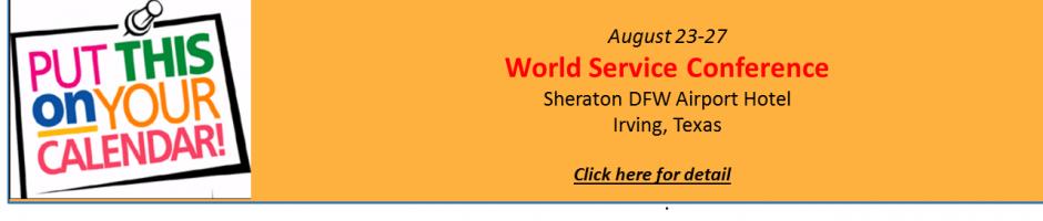 World Service Conferne w details 2017