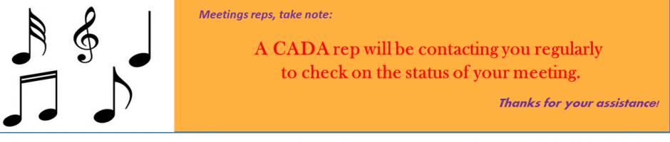 CADA contacting mtg reps
